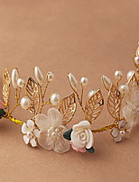 Leaf Beautiful Rose Flower Wreaths Headband for Lady Wedding Party Holiday Hair Jewelry
