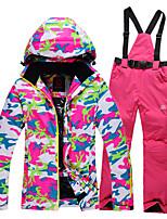 Ski Wear Ski/Snowboard Jackets / Clothing Sets/Suits Women's Winter Wear Polyester Winter ClothingWaterproof / Thermal / Warm / Windproof