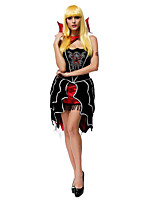 Costumes Ghost / Zombie / Vampires Halloween / Christmas / Carnival Red / Black Vintage Dress / Necklace