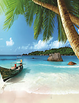 JAMMORY Wallpaper For Home Wall Covering Canvas Adhesive required Mural Seaside Scenery3XL(14'7''*9'2'')