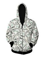 3D  Hoodie Long Sleeve Dollar Printing Clothing