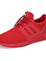 Черный / Розовый / Красный / Серый-Мужской-Для занятий спортом-Тюль-На плоской подошве-С круглым носком-Кеды