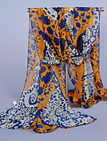 Women's Chiffon Southeast Asian-style Scarf,Yellow/Fuchsia/Pink/Orange