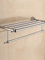 Prateleira de Banheiro / Aquecedor de Toalha / Cromado / De Parede /60*22.3*13.7cm /Aço Inoxidável / Liga de Zinco /Contemporâneo /60cm