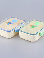 Food Grade Kids Lunch Box Container with 3 Compartment 1050ml