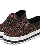 Women's Loafers & Slip-Ons Spring / Fall Creepers Leatherette Outdoor Platform Others Pink / Red Walking