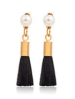 Earring Geometric Jewelry Women Tassels Wedding / Party / Daily / Casual / Sports Alloy / Imitation Pearl / Nylon 1 pair Gold