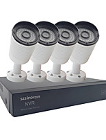 Szsinocam®4CH  720P CCTV System Waterproof Video Recorder 1800TVL Home Security Camera Surveillance Kits PLC Kits 300M