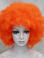 Afro Funs Orange Wig Circus Clown Fro Curly Unisex Halloween Adult Costume Wig