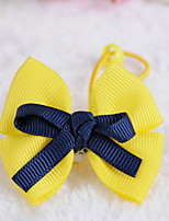 Korean Flower Girl's Fabric Bow Hair Tie