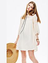 Heart Soul® Women's Round Neck 3/4 Length Sleeve Knee-length Dress-11AA17289