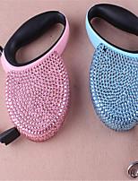 Perros Correas Ajustable/Retractable Azul / Rosado Plástico / Cuero PU