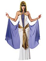 Costumes Déguisements de princesse / Costumes égyptiens Halloween / Noël / Carnaval Doré / Blanc / Bleu Vintage Térylène Robe / Coiffure