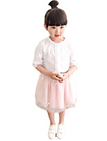 Girl's Casual/Daily Solid Dress,Others Summer Pink / Gray