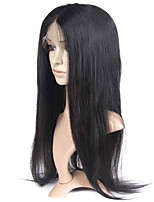 10-28 Inch Natural Straight Brazilian Virgin Human Hair Natural Color Full Lace Wig With Baby Hair
