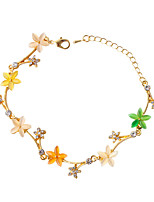Bracelet Chain Bracelet Alloy Flower Fashion Jewelry Gift Yellow,1pc
