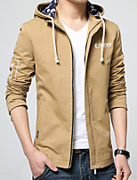 In the spring of 2016 new men's Jacket Mens hooded young Korean slim thin cotton coat tide male students