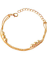 Chain Bracelets 1pc,Fashionable Circle Golden Alloy Jewelry Gifts