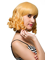 Golden yellow short hair, fashion wigs.