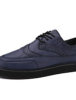 British Style Fashion Trend Men's Breathable Buluoke Casual Flats Shoes for Breathable Leather Shoes for Trip/Office
