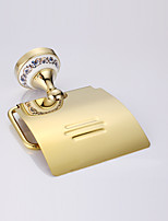 Toilet Paper Holder,Contemporary Gold Wall Mounted/Stainless Steel