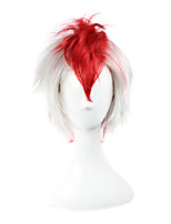 Cosplay Wigs Hoozuki no Reitetsu Cosplay White / Red Short / Straight Anime Cosplay Wigs 23 CM Synthetic Fiber Male