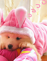 Dog Hoodie Pink Winter / Spring/Fall Solid / Animal Casual/Daily Dog Clothes / Dog Clothing-Other
