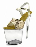 Podpatky-Personalizované materiály-Podpatky / Platformy / Lodičky / Sandály-Dámské-Stříbrná / Zlatá-Svatba / Šaty / Party-Vysoký