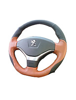 Cow Leather Hand-Stitched Steering Wheel Cover Slip Feel Comfortable, Breathable Sweat