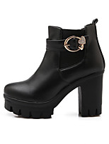 Women's Boots Winter Combat Boots PU Dress / Casual Chunky Heel Others Black / White Walking