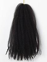 Locken Afro verworren Zöpfe Haarverlängerungen 12inch Kanekalon 1 Strand 100g Gramm Haar Borten