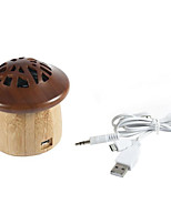 Automotive Supplies Bamboo Portable Mini Stereo Wireless Bluetooth Connection Mushroom Personalized Audio