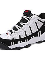 Da donna-Sneakers-Tempo libero-Comoda / Punta arrotondata-Piatto-Finta pelle-Nero / Bianco