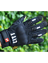 Reflective Motorcycle Gloves Nontoxic Odorless Water Resistant Breathable Slip Drop Resistance