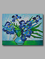 Stretched (Ready to hang) Hand-Painted Oil Painting Canvas Abstract Van Gogh repro Blue Irises Mini Size