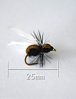 1 pcs Hard Bait Black 5 g/1/6 oz. Ounce,25 mm/1