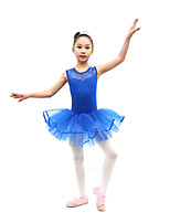 Ballet Dresses Children's Training Cotton Pleated 1 Piece Pink / Purple / Royal Blue Ballet Sleeveless Natural Dress
