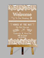 e-hjem personlig tilpassede bryllup desktop indikator bryllupsgave dekorasjon tilpasset navn og dato (inneholder tre staffeli)