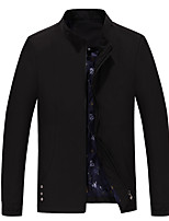 Men's Long Sleeve Casual / Work / Formal / Sport / Plus Size JacketCotton / Polyester Letter
