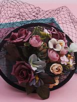 Mulheres Renda / Tecido Capacete-Casamento / Ocasião Especial Fascinador 1 Peça Claro Redonde 24cm