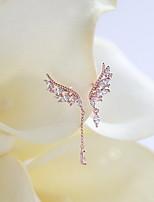 Earring Circle Drop Earrings Jewelry Women Fashion Daily / Casual Zircon 1 pair Rose / White