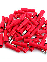 50 X Red Male Female Bullet Connector Crimp Terminals Wiring