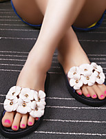 Women's Sandals Summer Sandals PVC Outdoor / Casual Flat Heel Flower Black / Pink / White / Almond Others