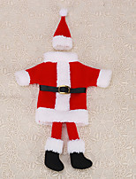 1pc Christmas Red Santa Claus Suit Foot Clothes Hat Wine Bottle Bag Party Cover Table Decoration Holiday