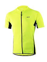 Arsuxeo Bicicleta/Ciclismo Camiseta/Maillot Hombres Mangas cortasTranspirable / Secado rápido / Cremallera delantera / Diseño Anatómico /