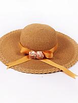 Для женщин Для женщин Винтаж / На каждый день Шляпа от солнца,Соломка,Весна / Лето