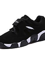 Running Shoes Men's Sneakers Spring / Fall Comfort Fabric Casual Flat Heel  Black / White Walking
