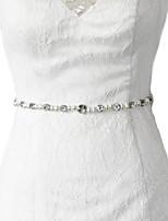 새틴 웨딩 / 파티/이브닝 / 일상복 창틀-비즈 / 아플리케 / 진주 / 모조 다이아몬드 여성 98 ½인치(250cm) 비즈 / 아플리케 / 진주 / 모조 다이아몬드