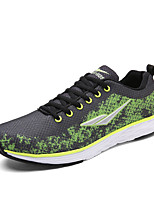 Men's Sneakers Spring / Fall Round Toe Tulle Athletic / Casual Flat Heel Others / Lace-up Blue / Green / Black and