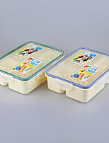 Eco 4 Compartment Plastic Lunch Box for Kids 1200ml